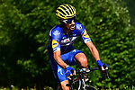 Julian Alaphilippe (FRA) Quick-Step Floors from the breakaway group during Stage 10 of the 2018 Tour de France running 158.5km from Annecy to Le Grand-Bornand, France. 17th July 2018. <br /> Picture: ASO/Alex Broadway | Cyclefile<br /> All photos usage must carry mandatory copyright credit (&copy; Cyclefile | ASO/Alex Broadway)