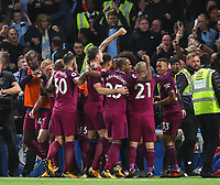 Kevin De Bruyne of Manchester City celebrates scoring the winning goal <br /> Calcio Chelsea - Manchester City Premier League <br /> Foto Phcimages/Panoramic/insidefoto