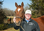 Rory Huston with Irish Sovereign at Overbrook Farm in Colts Neck, New Jersey.