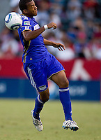 Teal Bunbury of the Kansas City Wizards moves towards the ball.The Kansas City Wizards defeated CD Chivas USA 2-0 at Home Depot Center stadium in Carson, California on Sunday September 19, 2010.