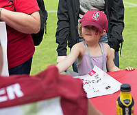 Stanford, CA - April15, 2017:  Autographs at Cardinal and White Spring Game at Cagan Stadium.