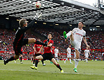 Robbie Keane scores the second goal for the Allstars past Edwin Van De Saar during the Michael Carrick Testimonial match at the Old Trafford Stadium, Manchester. Picture date: June 4th 2017. Picture credit should read: Simon Bellis/Sportimage