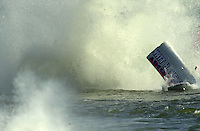 Frame 6: Wyatt Nelson suffers a major crash during the final when the stuffing box in his new Seebold F1 hull tears away from the boat during a turn..PROP-Cypress Gardens Shootout, Winter Haven, Florida, USA 22 October,2000 copyright©F.Peirce Williams 2000..F.Peirce Williams .photography.P.O.Box 455  Eaton,OH 45320 USA.p: 317.358.7326  e: fpwp@mac.com