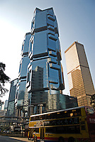 "Completed in 1988, The Lippo Centre in central Hong Kong is a pair of twin towers, with clusters of obtruding windows thought to resemble koalas clutching a tree. The buildings were nicknamed ""The Koala Tree"" by locals.."