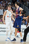 Real Madrid Luka Doncic and FC Barcelona Lassa Ante Tomic during Turkish Airlines Euroleague match between Real Madrid and FC Barcelona Lassa at Wizink Center in Madrid, Spain. December 14, 2017. (ALTERPHOTOS/Borja B.Hojas)