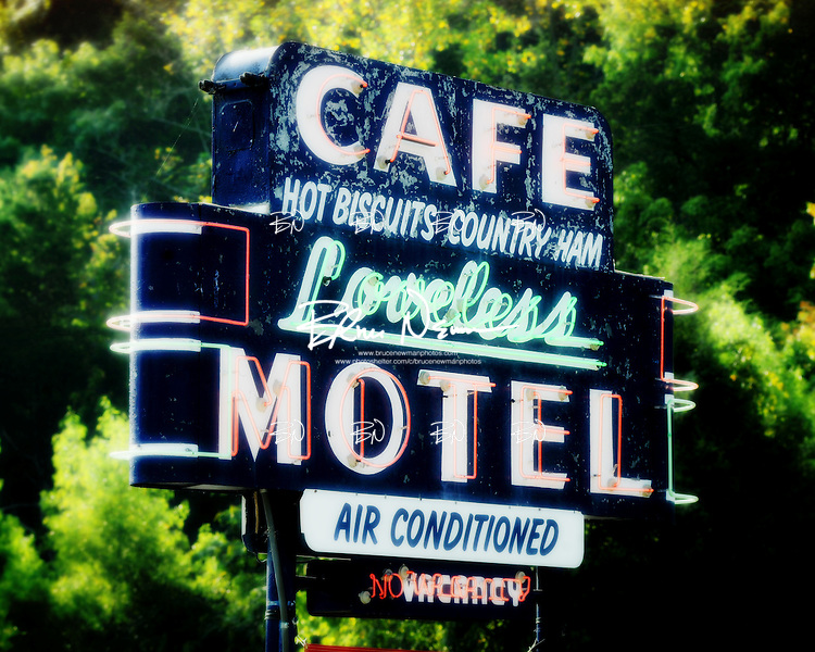 Loveless Cafe sign near Franklin, Tennessee.