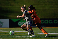 Amy Rodriguez (8) of the Philadelphia Independence is marked by India Trotter (20) of Sky Blue FC. The Philadelphia Independence defeated Sky Blue FC 2-1 during a Women's Professional Soccer (WPS) match at John A. Farrell Stadium in West Chester, PA, on June 6, 2010.