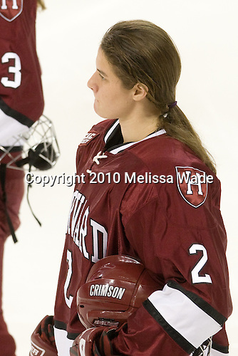 Josephine Pucci (Harvard - 2) - The Boston College Eagles defeated the visiting Harvard University Crimson 6-2 on Sunday, December 5, 2010, at Conte Forum in Chestnut Hill, Massachusetts.