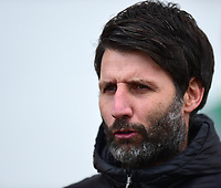Lincoln City manager Danny Cowley during the pre-match warm-up<br /> <br /> Photographer Andrew Vaughan/CameraSport<br /> <br /> The EFL Sky Bet League Two - Lincoln City v Grimsby Town - Saturday 19 January 2019 - Sincil Bank - Lincoln<br /> <br /> World Copyright © 2019 CameraSport. All rights reserved. 43 Linden Ave. Countesthorpe. Leicester. England. LE8 5PG - Tel: +44 (0) 116 277 4147 - admin@camerasport.com - www.camerasport.com