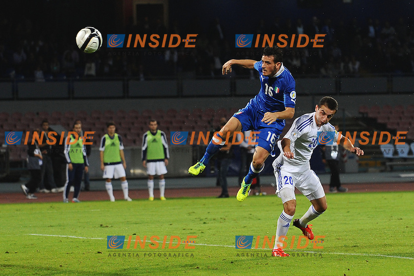 Gol Alessandro Florenzi Italia 1-1 <br /> Goal celebration <br /> Napoli 15-10-2013 Stadio San Paolo <br /> Football Calcio Fifa World Cup 2014 Qualifiers <br /> Europe Group B <br /> Italia - Armenia <br /> Italy - Armenia <br /> Foto Andrea Staccioli Insidefoto