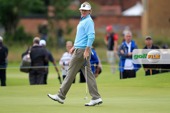 Brandt Snedeker (USA) misses his birdie putt on the 4th green during Friday's Round 2 of the 141st Open Championship at Royal Lytham & St.Annes, England 20th July 2012 (Photo Eoin Clarke/www.golffile.ie)