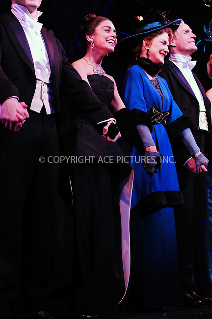 ACEPIXS.COM<br /> <br /> April 8 2015, New York City<br /> <br /> Actress Vanessa Hudgens at the Broadway Opening Night Curtain Call for 'Gigi' at the Neil Simon Theatre on April 8, 2015 in New York City.<br /> <br /> <br /> By Line: William Bernard/ACE Pictures<br /> <br /> ACE Pictures, Inc.<br /> www.acepixs.com<br /> Email: info@acepixs.com<br /> Tel: 646 769 0430