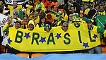 20 JUN 2010: Brazil fans. The Brazil National Team played the C'ote d'Ivoire National Team at Soccer City Stadium in Johannesburg, South Africa in a 2010 FIFA World Cup Group G match.