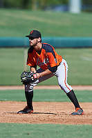 San Francisco Giants Nick Hill (43) during an Instructional League game against the Chicago White Sox on October 10, 2016 at the Camelback Ranch Complex in Glendale, Arizona.  (Mike Janes/Four Seam Images)