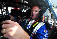 May 2, 2008; Richmond, VA, USA; NASCAR Nationwide Series driver Mike Wallace during the Lipton Tea 250 at the Richmond International Raceway. Mandatory Credit: Mark J. Rebilas-