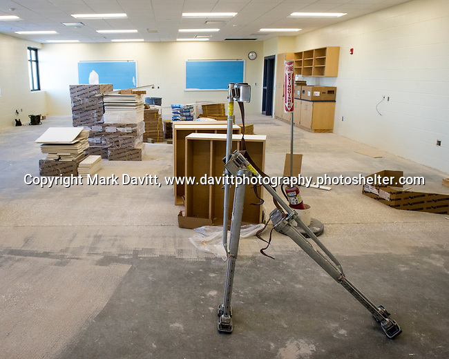 Bondurant-Farrar High School is in the final stages of completing it's new addition. This room's special feature allows for flexible space so the room can be split in two.
