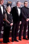 Yvonne Blake and Iñigo Mendez de Vigo attends to the Red Carpet of the Goya Awards 2017 at Madrid Marriott Auditorium Hotel in Madrid, Spain. February 04, 2017. (ALTERPHOTOS/BorjaB.Hojas)