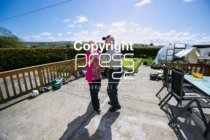Nora Cunningham dancing wit her Husband Tim at home in Athea Co.Limerick Pictured Credit Brian Gavin Press 22
