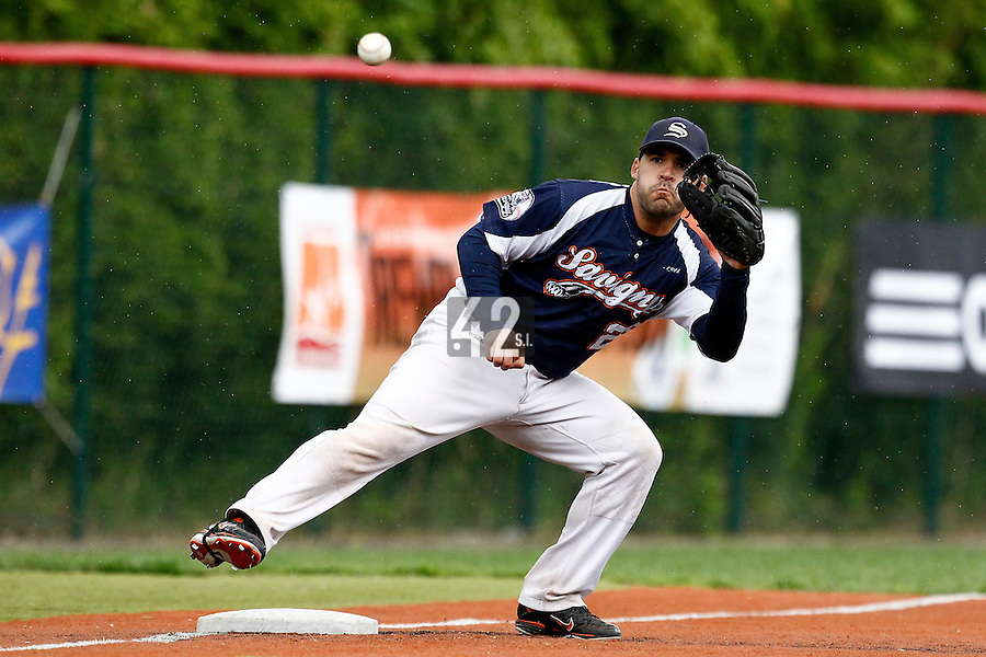 17 July 2011: Vincent Ferreira of the Rouen Huskies is seen during the 2011Challenge de France final match won 6-4 by the Rouen Huskies over the Savigny Lions, at Stade Pierre Rolland, in Rouen, France.
