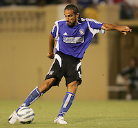 29 June 2005:  Dwayne De Rosario of Earthquakes in action against Rapids and later scored a game winning goal in second half at Spartan Stadium in San Jose, California.   Earthquakes defeated Rapids, 1-0.  Mandatory Credit: Michael Pimentel / ISI