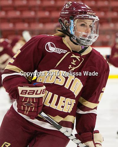 Grace Bizal (BC - 2) - The visiting Boston College Eagles defeated the Harvard University Crimson 2-0 on Tuesday, January 19, 2016, at Bright-Landry Hockey Center in Boston, Massachusetts.