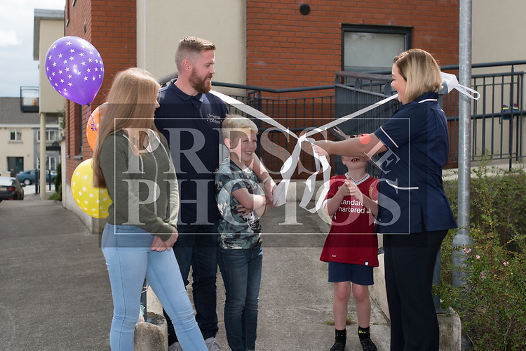The Coyne Family: Karen & Peter with daughters Ava and Abbeyat the official opening of Little Stars Montessori in Duleek. Photo:Colin Bell/pressphotos.ie