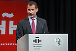 Spanish king Felipe VI during the commemorating event  of the centenary of the birth of Camilo Jose Cela at Cervantes institute in Madrid. September 07, 2016. (ALTERPHOTOS/Rodrigo Jimenez)