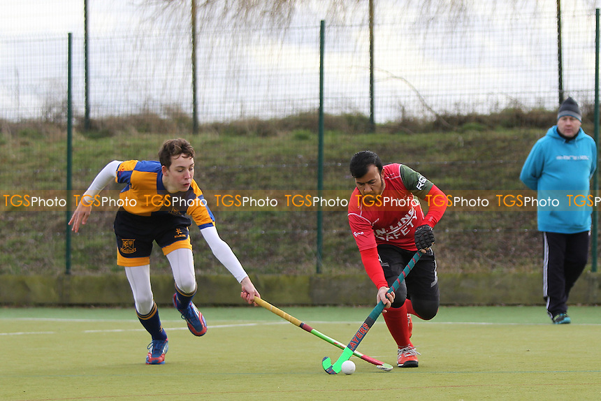 Upminster HC 2nd XI vs Redbridge & Ilford HC, East Region League Field Hockey at the Coopers Company and Coborn School on 28th January 2017