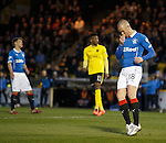 Kenny Miller reacts after he blazes the ball over the bar