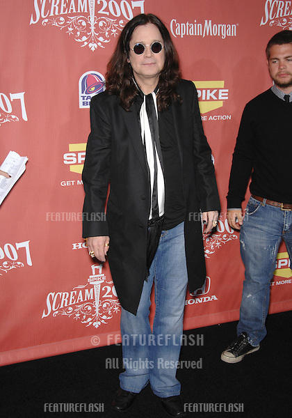 "Ozzy Osbourne at Spike TV's ""Scream 2007"" Awards honoring the best in horror, sci-fi, fantasy & comic genres, at the Greak Theatre, Hollywood..October 20, 2007  Los Angeles, CA.Picture: Paul Smith / Featureflash"
