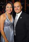 "Denyze Gama and Asdrubal ""Dru"" Gutierrez at the Hispanic Chamber of Commerce's annual Triunfando Awards Show and Dinner at the Hobby Center Saturday Nov. 14,2009. (Dave Rossman/For the Chronicle)"