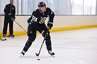 September 15, 2017: Boston Bruins center David Backes (42) plays the puck during the Boston Bruins training camp held at Warrior Ice Arena in Brighton, Massachusetts. Eric Canha/CSM
