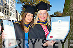 Elva Barron and Sara Curtin Knocknagoshel who Graduated with a Bachelor of Science at the IT Tralee Graduations at the  Brandon hotel, Tralee on Friday.   Copyright Kerry's Eye 2008