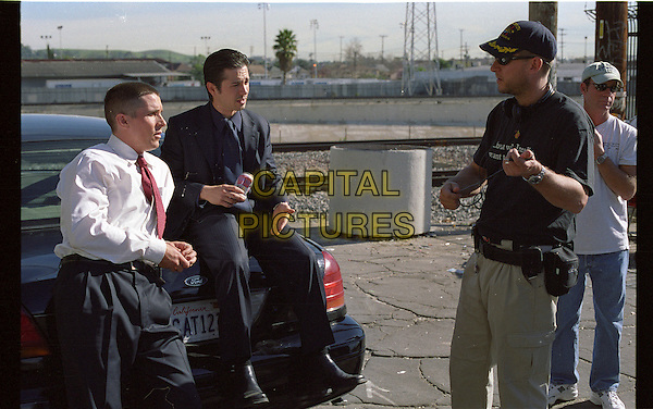 CHRISTIAN BALE, FREDDY RODRIGUEZ & DAVID AYER (DIRECTOR).on the set of Harsh Times.*Editorial Use Only*.Ref: FB.www.capitalpictures.com.sales@capitalpictures.com.Supplied by Capital Pictures.