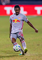 16th July 2020, Orlando, Florida, USA;  New York Red Bulls Jason Pendant (24) passes the ball during the MLS Is Back Tournament between the Columbus Crew SC versus New York Red Bulls on July 16, 2020 at the ESPN Wide World of Sports, Orlando FL.
