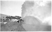 D&amp;RGW rotary snow plow OM working.<br /> D&amp;RGW  Cumbres, CO  2/20/1939