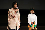 """September 25, 2019, Tokyo, Japan - Japanese film director Rikiya Imaizumi (L) and actress Yukino Kishii speak at a press event for the 31st Tokyo International Film Festival (TIFF) as their movie """"Just Only Love"""" is nominated to the competition section of the festival in Tokyo on Tuesday, September 25, 2018. TIFF announced all nominated films for 10-day festival event from October 25 through November 3. (Photo by Yoshio Tsunoda/AFLO) LWX -ytd-"""