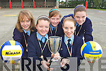 SPIKE MASTERS: Ardfert NS Spikeball Team Included are Laoise McElligott, Aoife Fitzgerald, Claire Crowley, Sarah Fitzgerald and Treise Moran.