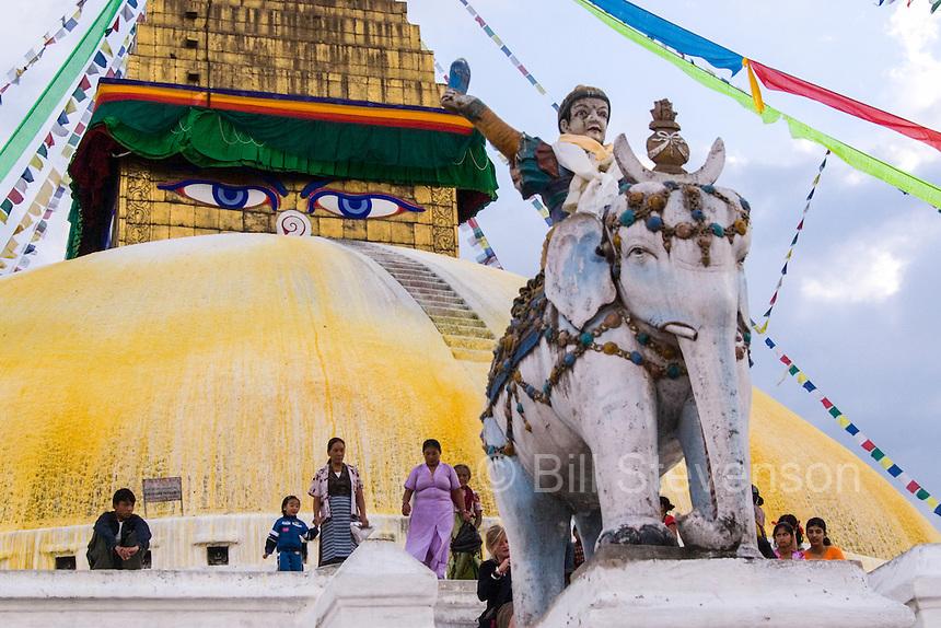 The Bodinath Temple in Kathmandu Nepal