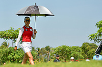 SINGAPORE - MARCH 03: Minjee Lee of Australia walking-up the 3rd during the final round of the HSBC Women's World Championship 2019 at Sentosa Golf Club - Tanjong Course, Singapore on March 03, 2019.<br /> .<br /> .<br /> .<br /> (Photo by: Naratip Golf Srisupab/SEALs Sports Images)<br /> .<br /> Any image use must include a mandatory credit line adjacent to the content which should read: Naratip Golf Srisupab/SEALs Sports Images