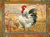 Dona Gelsinger, STILL LIFE STILLLEBEN, NATURALEZA MORTA, flowers, Blumen, flores, paintings+++++,USGE1447,#I#,#F# ,roosters ,autumn,fall