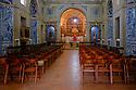 Sesimbra, Lisbon, Portugal. 22.03.2015. Church of Nossa Senhora de Castelo above Sesimbra, a seaside town south of Lisbon, Portugal.  © Jane Hobson.