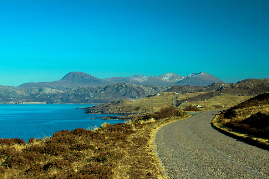 Gruinard Bay, Sail Mhor and An Teallach on the North West 500, Ross & Cromarty, Northwest Highlands