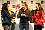 26.11.2014, Best Western Premier Hotel, Berlin, GER, Stefan Mross, Immer wieder Sonntags, PK, 39.Geburtstag, im Bild Stefan Mross, Anita & Alexandra Hofmann, Geraldine Olivier (Brille)<br /> <br />               <br /> Foto © nordphoto /  Engler