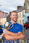Fergus Keating retained the title of Sheaf Throwing Champion for the second year in a row at the sheaf throwing competition in the Fair Field in Cahersiveen on Sunday.