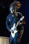WEST PALM BEACH, FL - JULY 24: Jim Root of Slipknot performs at The Coral Sky Amphitheater on July 24, 2015 in West Palm Beach Florida. Credit Larry Marano © 2015