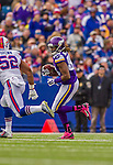 19 October 2014: Minnesota Vikings wide receiver Cordarrelle Patterson rushes for a 3 yard gain in the second quarter against the Buffalo Bills at Ralph Wilson Stadium in Orchard Park, NY. The Bills defeated the Vikings 17-16 in a dramatic, last minute, comeback touchdown drive. Mandatory Credit: Ed Wolfstein Photo *** RAW (NEF) Image File Available ***