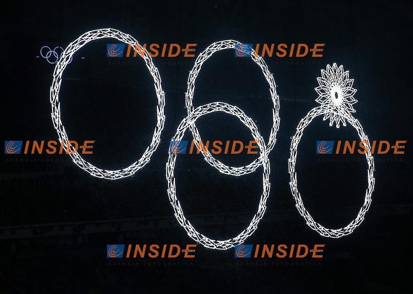Fiaccola accesa<br /> 07.02.2014, Olympiastadion Fischt, Adlerer<br /> Cerimonia Inaugurale Apertura <br /> Sochi 2014 Olimpiadi Invernali. Olympic Winter Games <br /> Foto EXPA/ Insidefoto