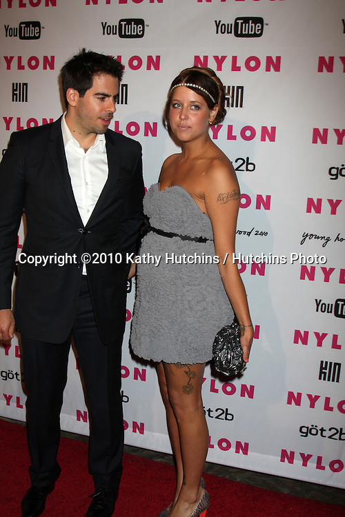 Eli Roth & Peaches Geldof.arrives at the Nylon Magazine Young Hollywood Party 2010.Hollywood Roosevelt Hotel, Poolside.Los Angeles, CA.May 12, 2010.©2010 Kathy Hutchins / Hutchins Photo...