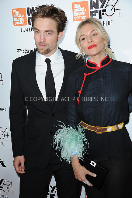 www.acepixs.com<br /> October 15, 2016  New York City<br /> <br /> Robert Pattinson and Sienna Miller arriving to the 54th New York Film Festival  'The Lost City of Z' premiere on October 15, 2016 in New York City.<br /> <br /> <br /> Credit: Kristin Callahan/ACE Pictures<br /> <br /> <br /> Tel: 646 769 0430<br /> Email: info@acepixs.com